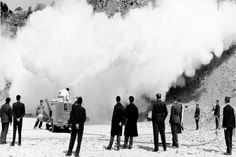 Fire truck - extinguishing with powder